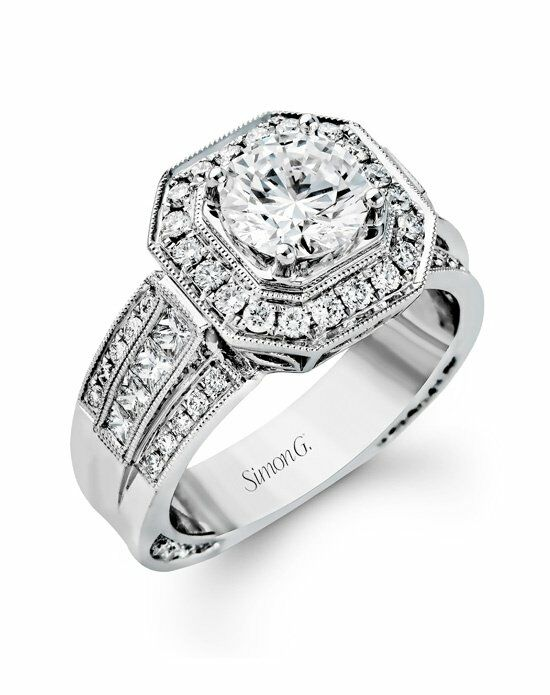 Simon G. Jewelry NR109 Engagement Ring photo
