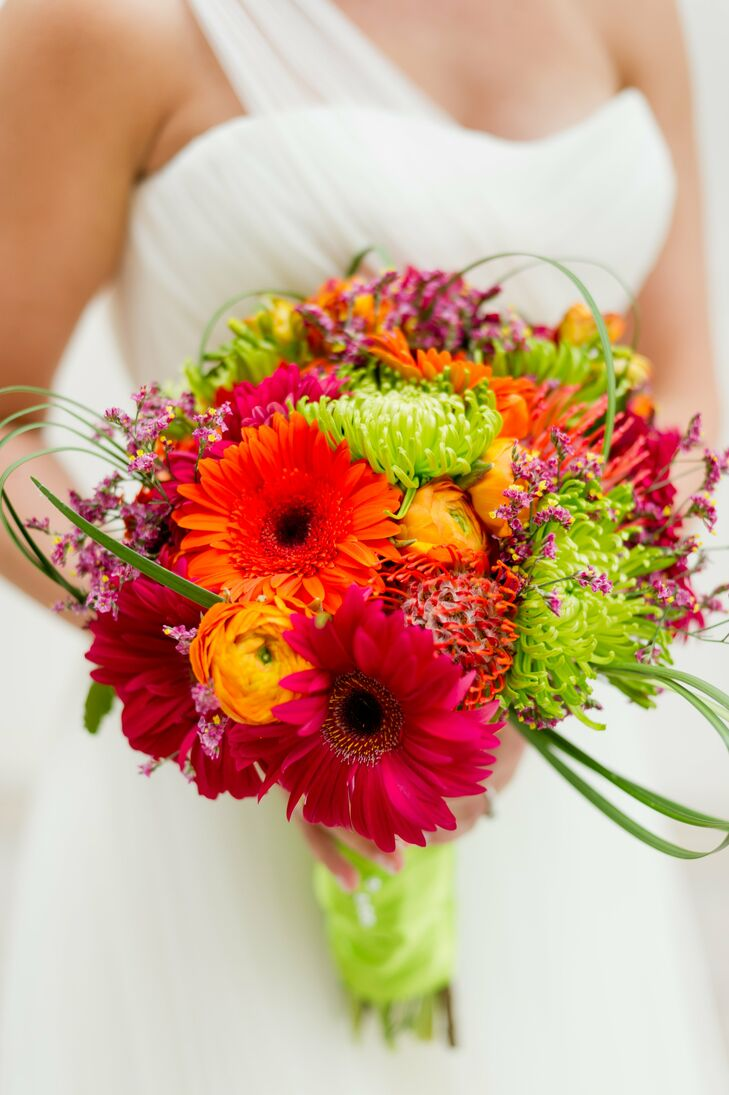 Bright colorful bridal bouquet for Bright wedding bouquet