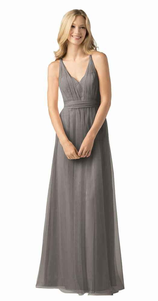 grey bridesmaid dress by Wtoo