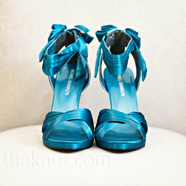 Teal Bridal Shoes