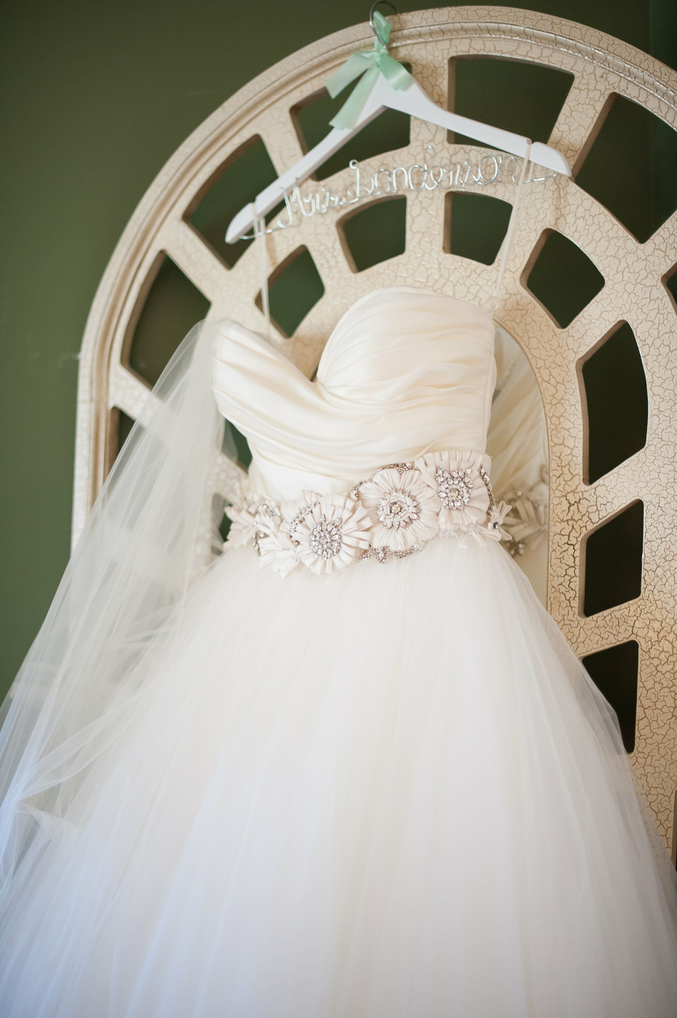 Lazaro Ball Gown With Jeweled Flower Belt