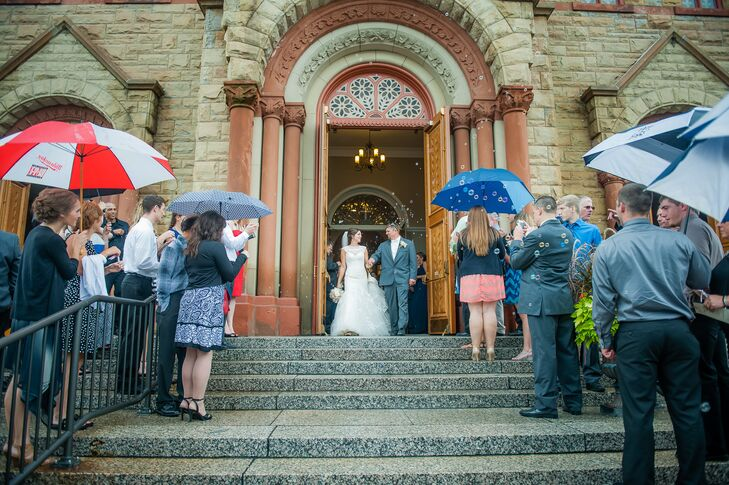 Recessional Shot at Church Steps