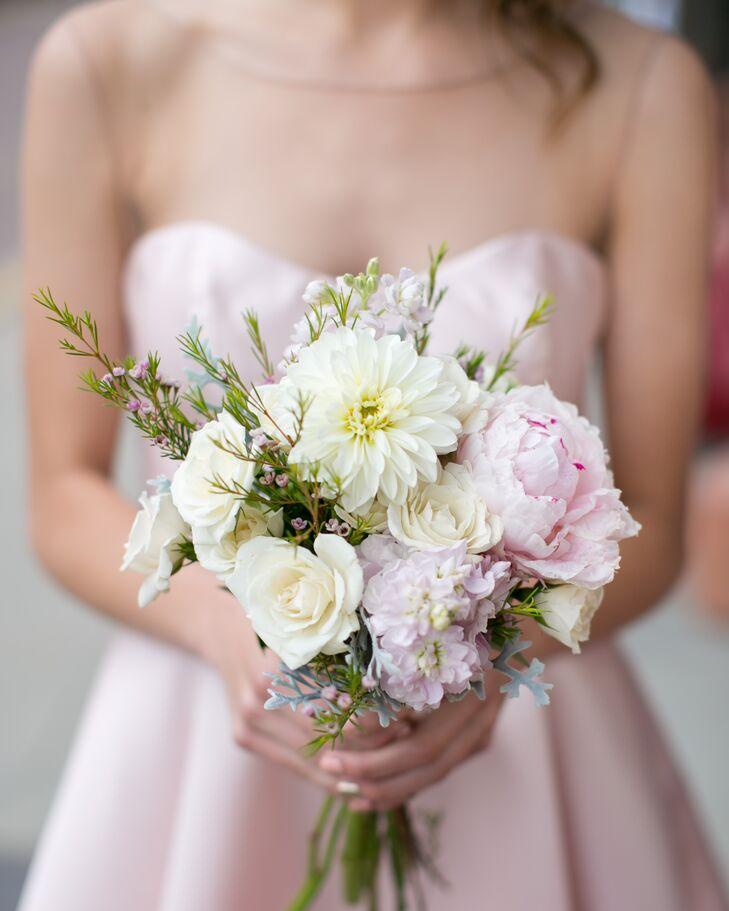10 Stunning Dahlia Wedding Bouquets: Romantic Peony, Dahlia And Rose Bouquet