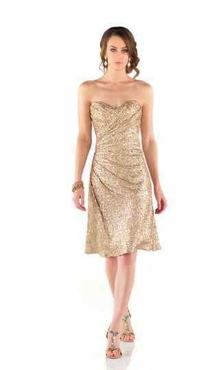 gold bridesmaid dress by Sorella Vita