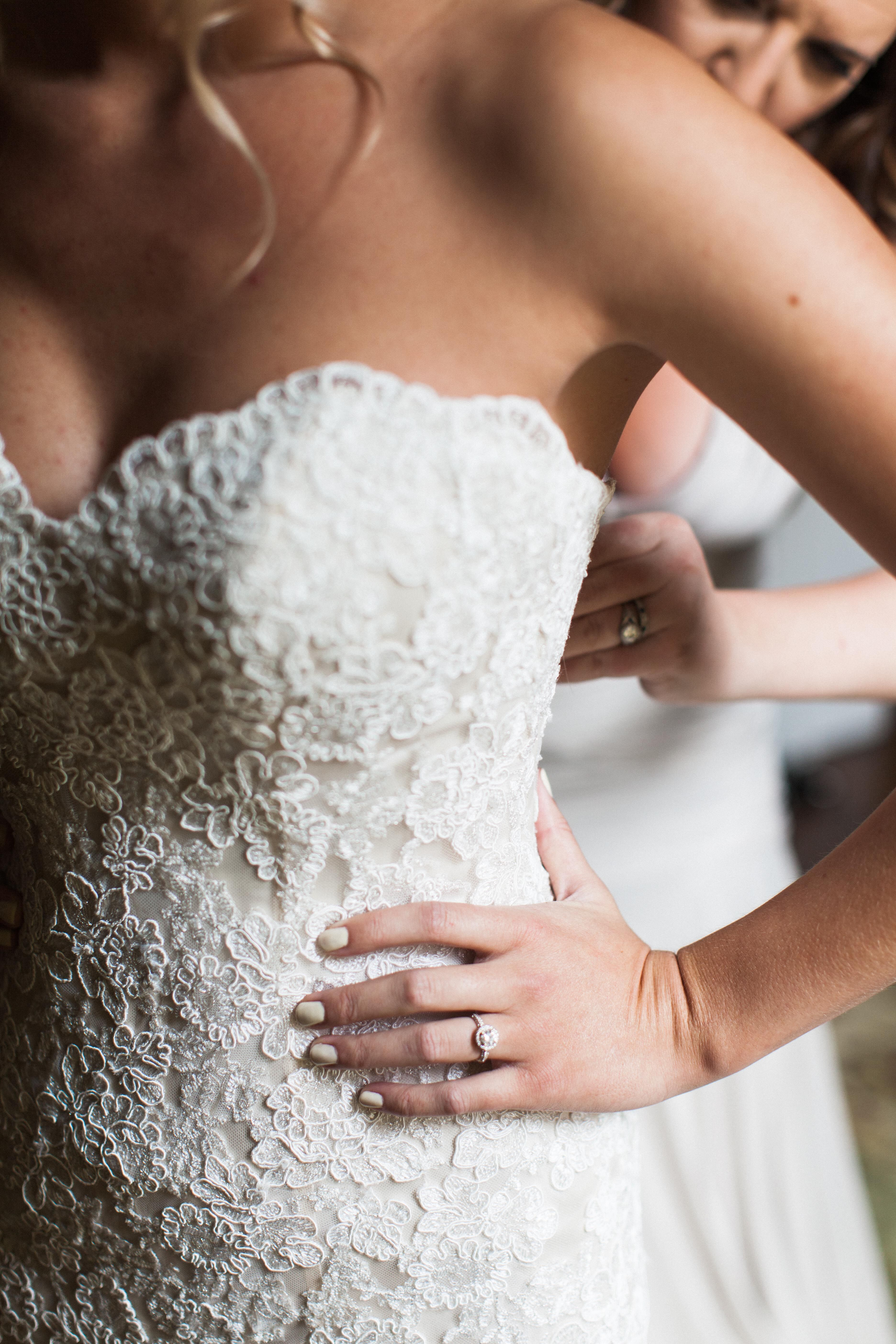 Champagne Wedding Dress With White Lace Overlay,Beach Ceremony Short Beach Wedding Dresses