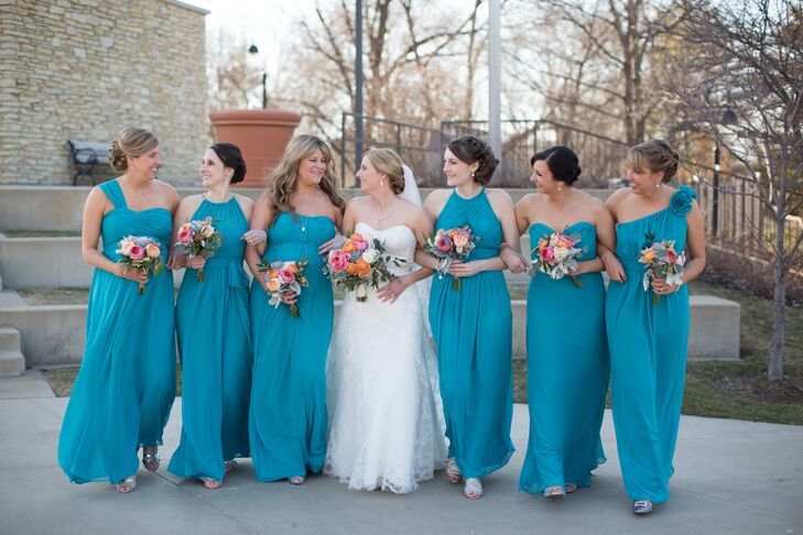 Oasis&39 Blue Long Bridesmaid Dresses