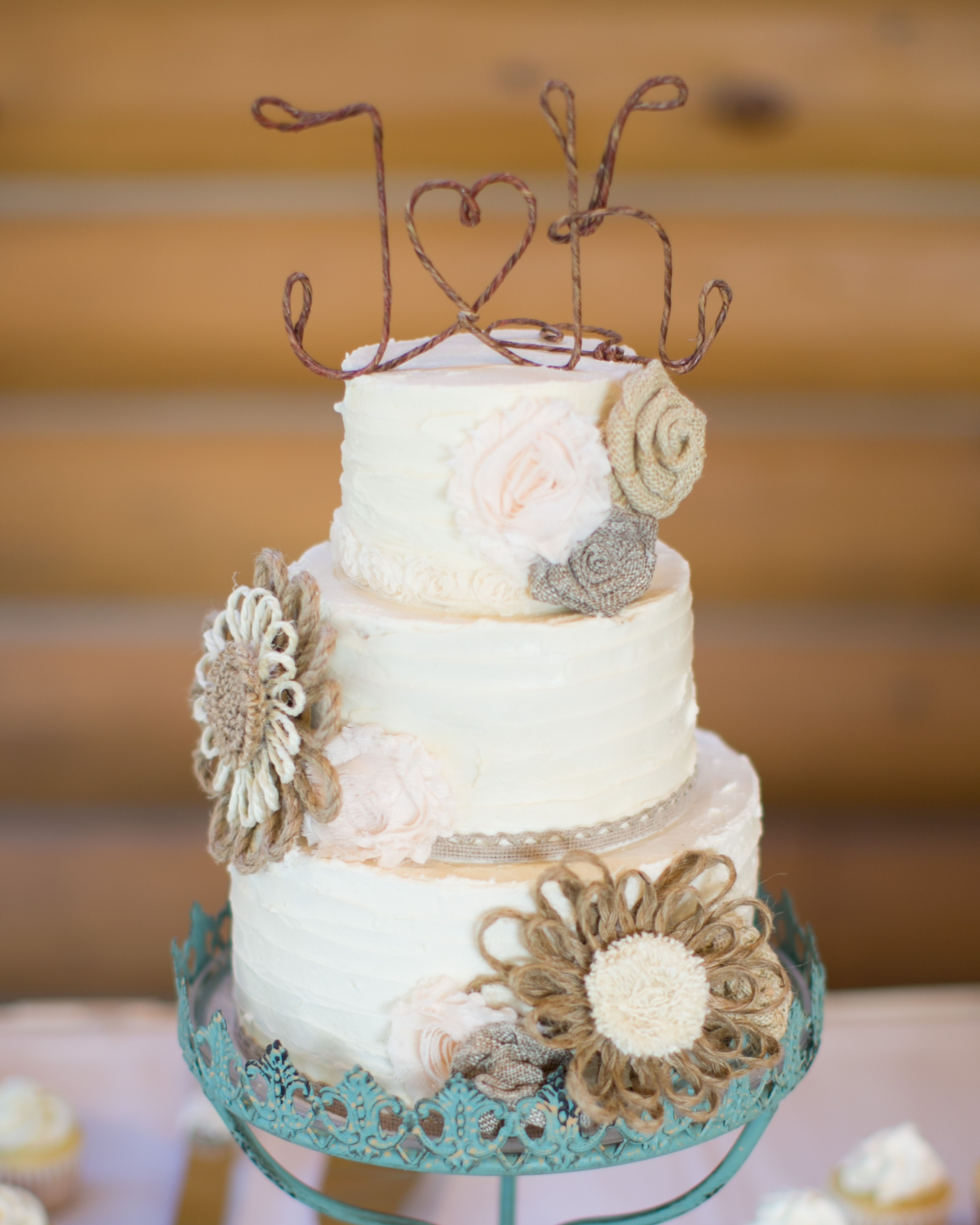 Rustic Wedding Cake With Twine Detail