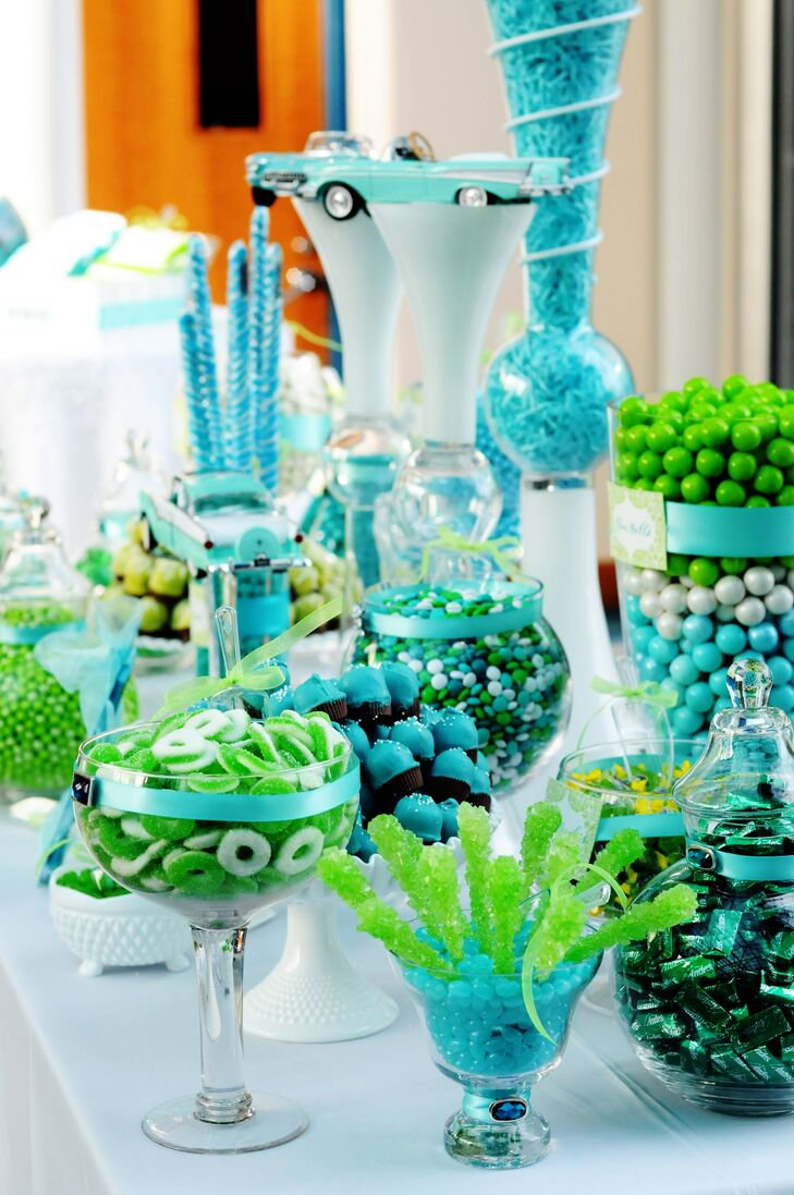 turquoise and lime green candy bar. Black Bedroom Furniture Sets. Home Design Ideas