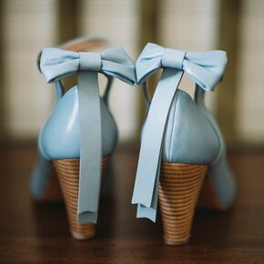 Vintage Inspired Blue Wedding Shoes