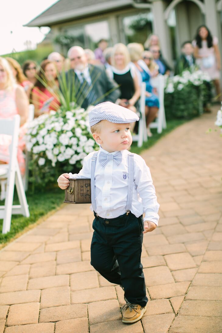 Blue Seersucker Ring Bearer Outfit