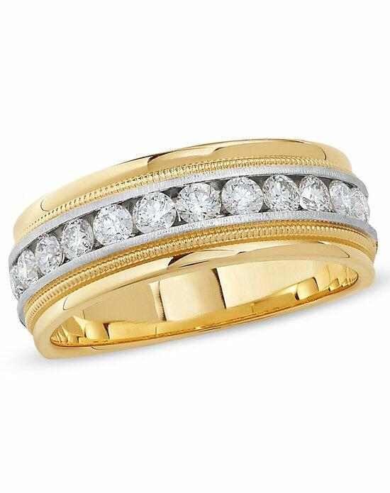 Zales Men's 1 CT. T.W. Diamond Channel Milgrain Band in 14K Two-Tone Gold  19976586 Wedding Ring photo