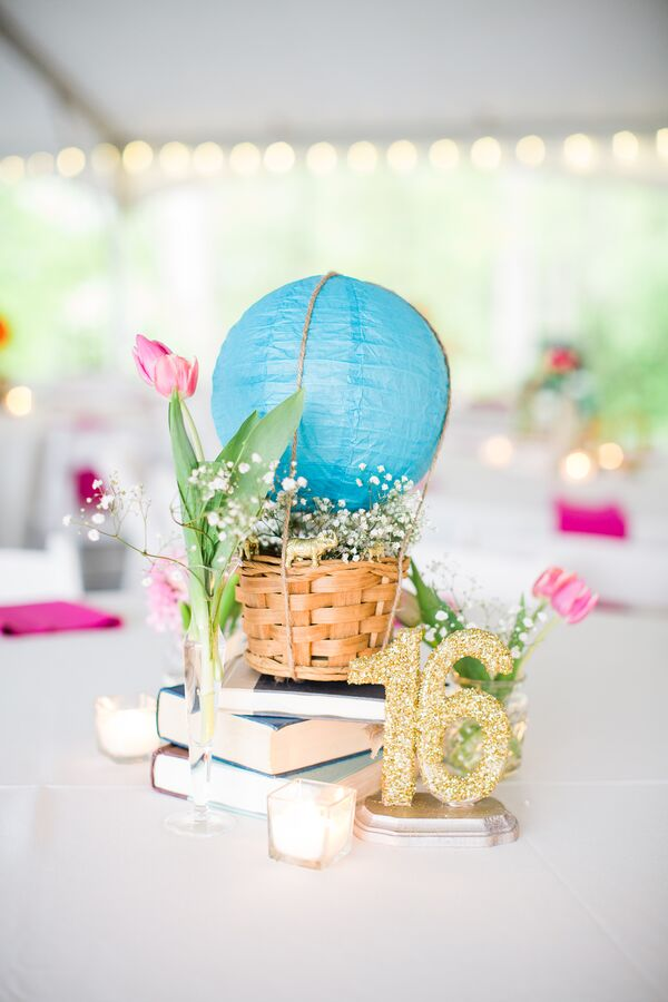 Paper Lantern Hot Air Balloon Wedding Reception Centerpieces