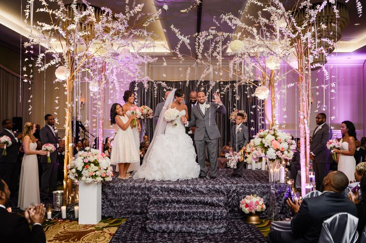 A Glam New Year S Eve Wedding At Renaissance Raleigh North Hills Hotel In Carolina