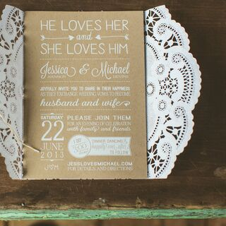 Real DIY Wedding Invitations