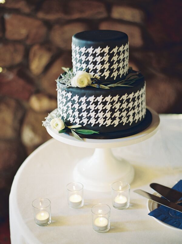 Closeup of Houndstooth Cake