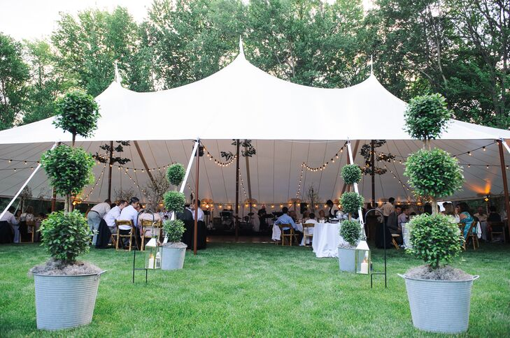 Topiary Tented Reception Entrance