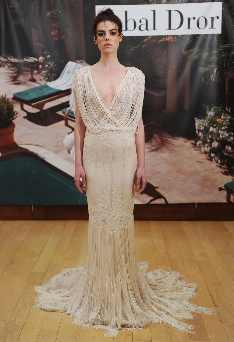 Fringe Inbal Dror wedding dress