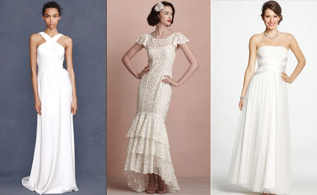 From Left To Right Halter Gown 450 Jcrew Flamenco Style 600 Bhldn Tulle Strapless Dress 550 Anntaylor