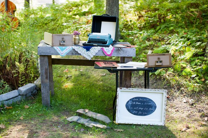 typewritten letter guest book station