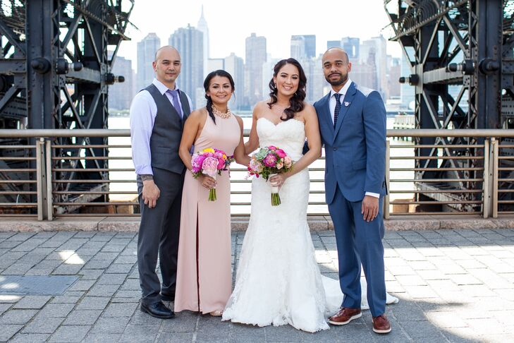 A Garden-Style Rooftop Wedding at MyMoon Restaurant in New York, New ...
