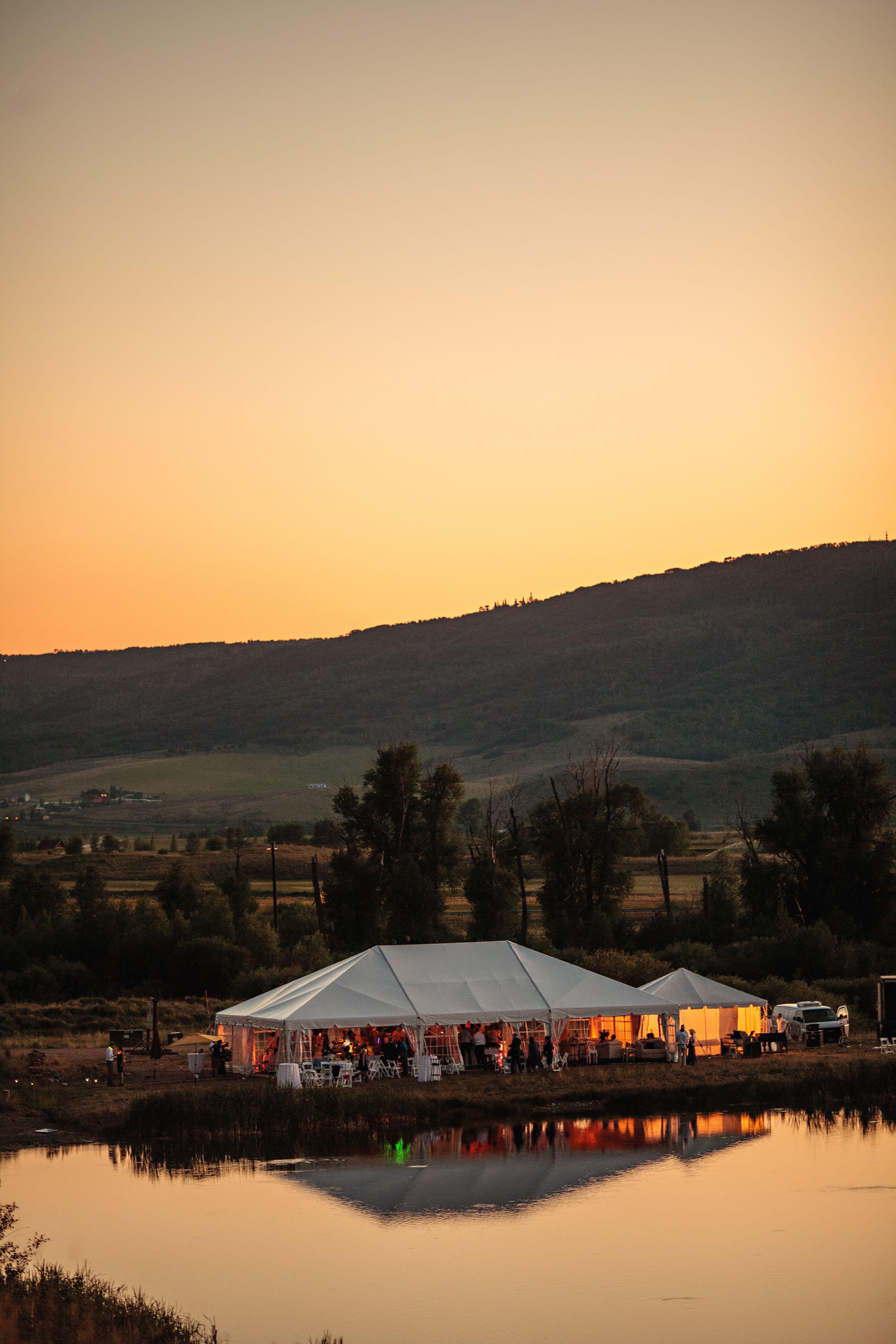 A Tented Reception At Alpine Mountain Ranch In Colorado