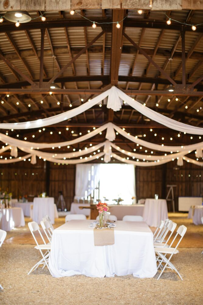 Barn Reception Setup With Swags