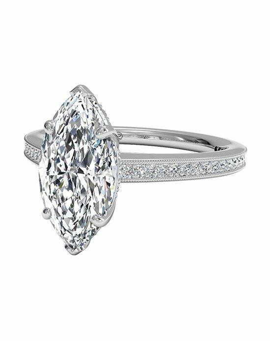 Ritani Micropavé Diamond Band Engagement Ring with Milgrain Finish in 18kt White Gold (0.20 CTW) Engagement Ring photo