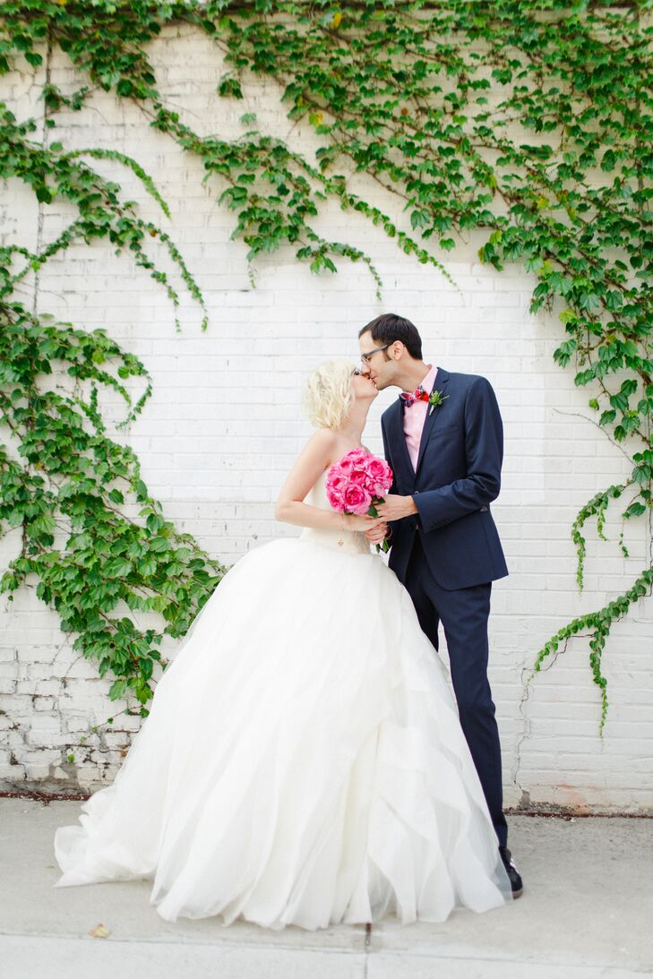 A Bright, Offbeat Wedding at the Foundry in Long Island City, New York