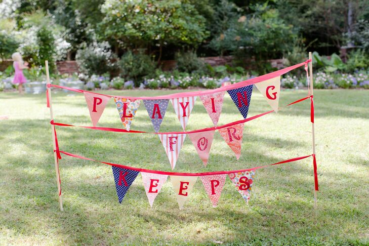 Playing For Keeps Bunting Sign