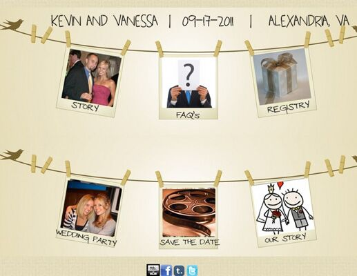Vanessa And Kevin S Wedding Website
