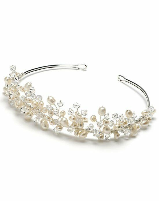 USABride Delicate Pearl & Crystal Crown TI-3087 Wedding Accessory photo