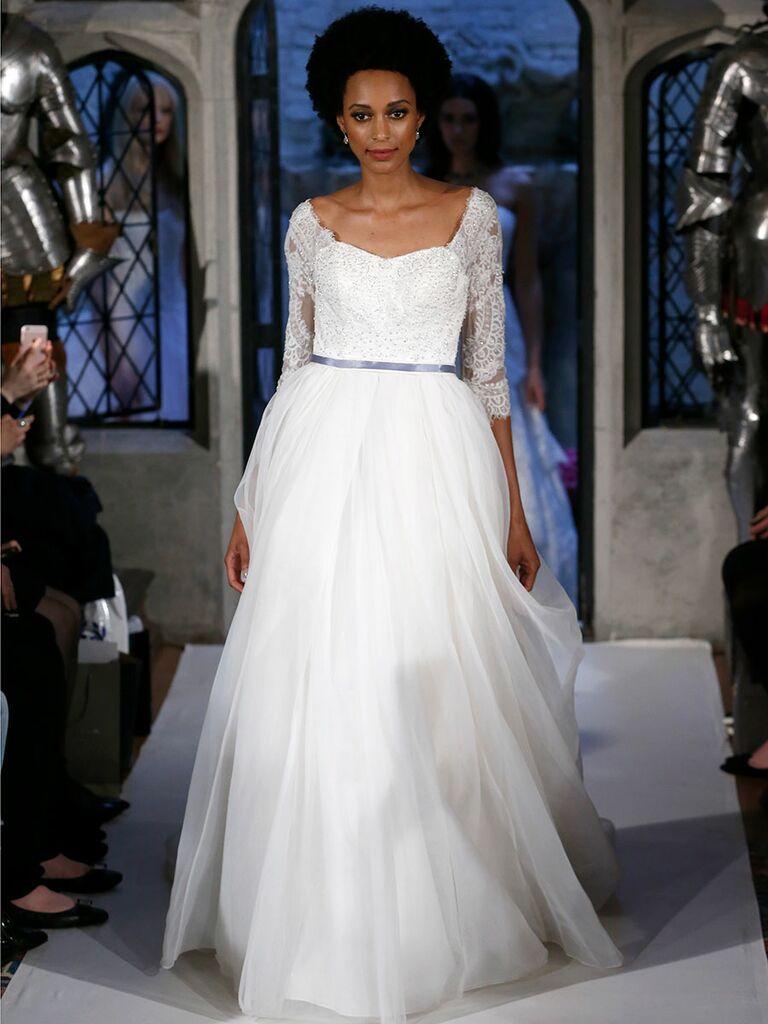 Oleg cassini spring 2018 collection bridal fashion week photos oleg cassini spring 2018 tulle three quarter sleeve wedding dress junglespirit Gallery