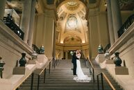 "Boston was the basis for Caitlin O'Malley (28 and an MBA candidate) and Peter Maglathlin's (32 and en entrepreneur) lavish museum wedding. ""The city o"