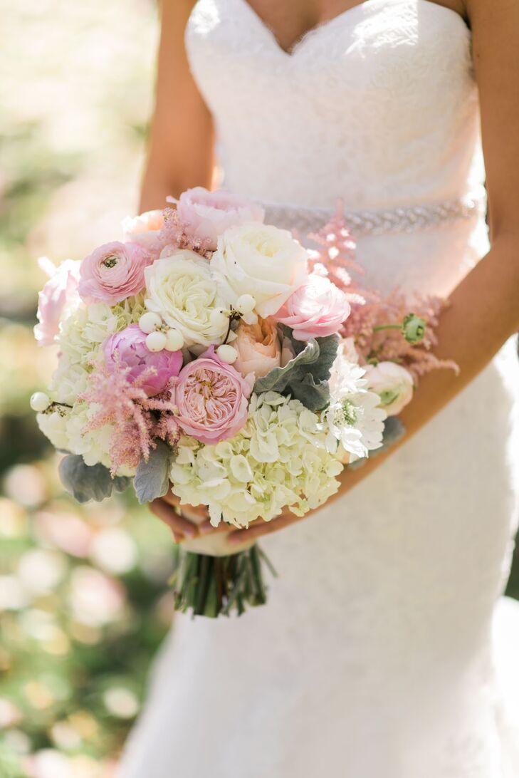 Pastel colored round flower bouquet izmirmasajfo
