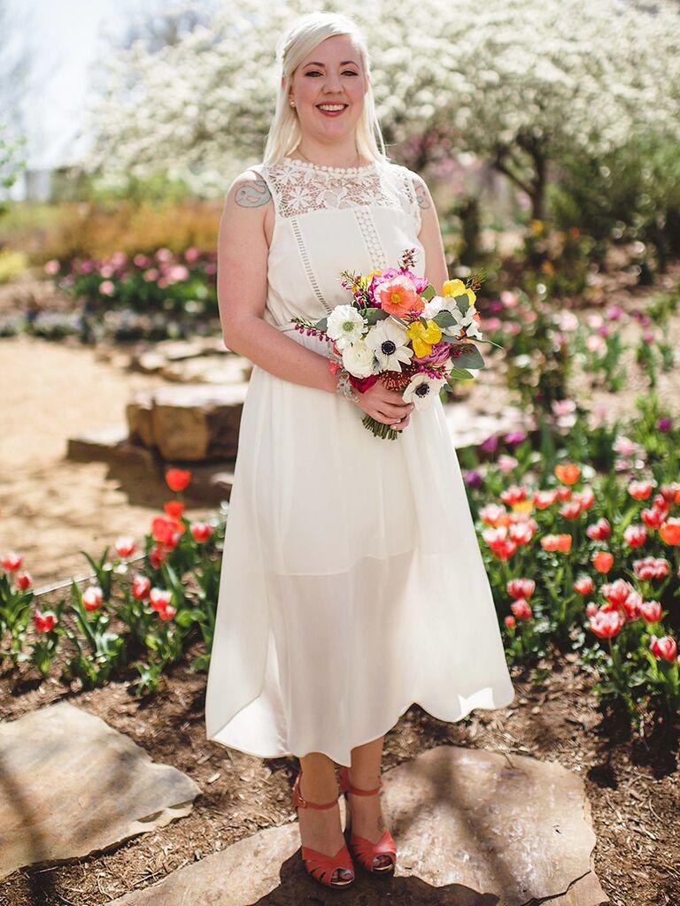simple short wedding dress from asos