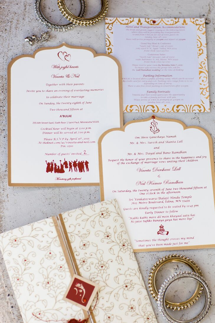 Sri Venkateswara Balaji Hindu Temple-Inspired Wedding Invitations