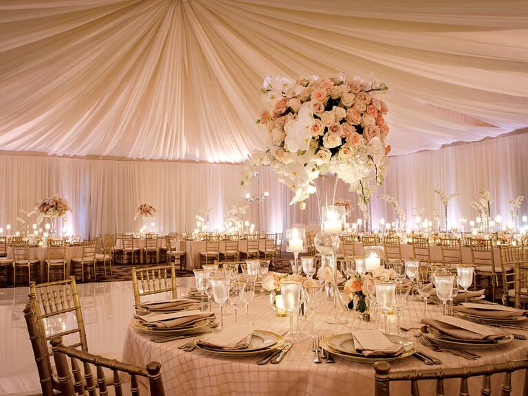 Draped ceiling wedding reception. Wedding Style Hacks