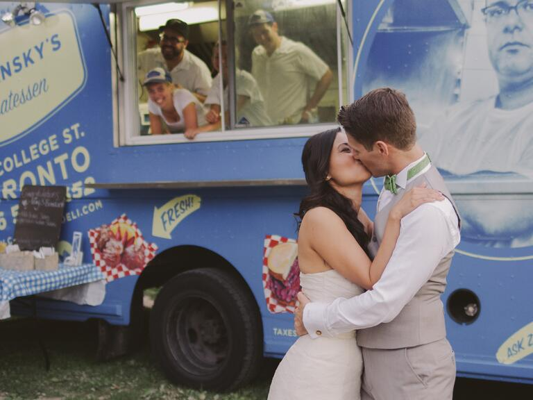 Food truck at a reception