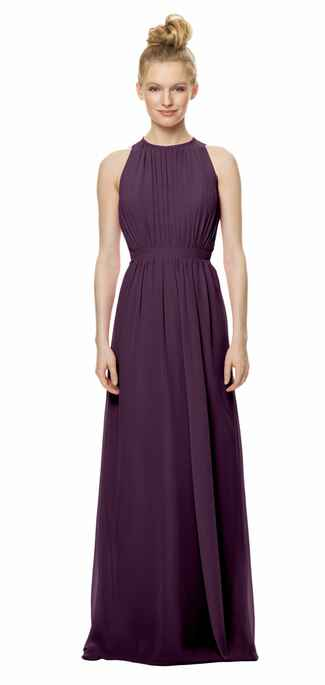 purple bridesmaid dress by Bari Jay
