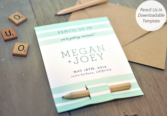 6 diy save the date templates you can easily pull off photo smitten on paper featured the knot blog junglespirit Image collections
