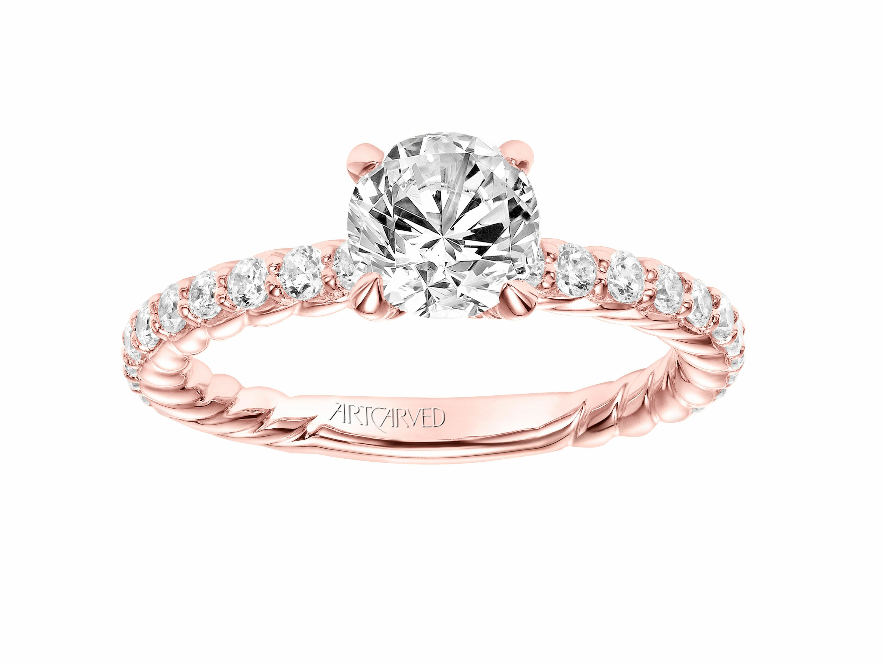 ring color gold rings rose colored fashion diamond