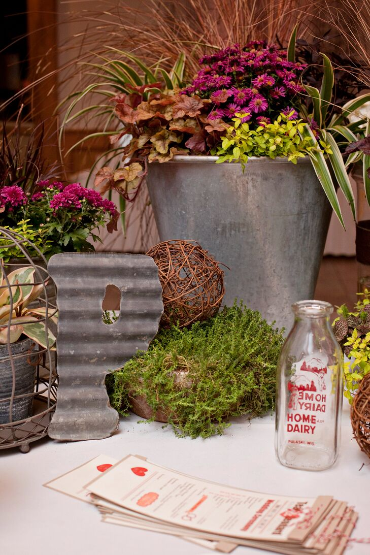 Natural Garden Decor With Moss And Wicker Balls