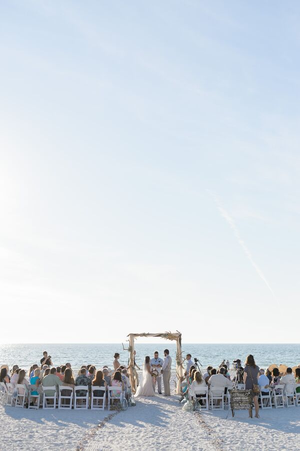 Barefoot Beach Wedding Ceremony