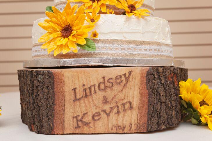 Custom, Rustic Wooden Wedding Cake Stand