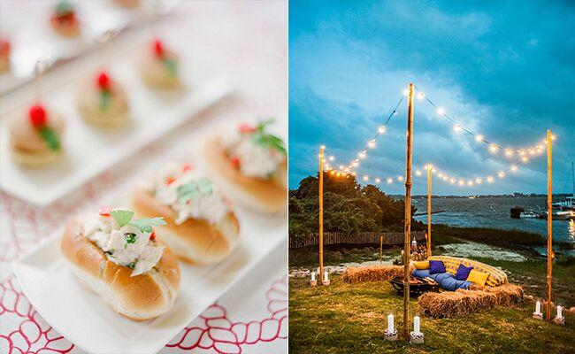 Hamptons Wedding: KT Merry/ Joshua Zuckerman / TheKnot.com
