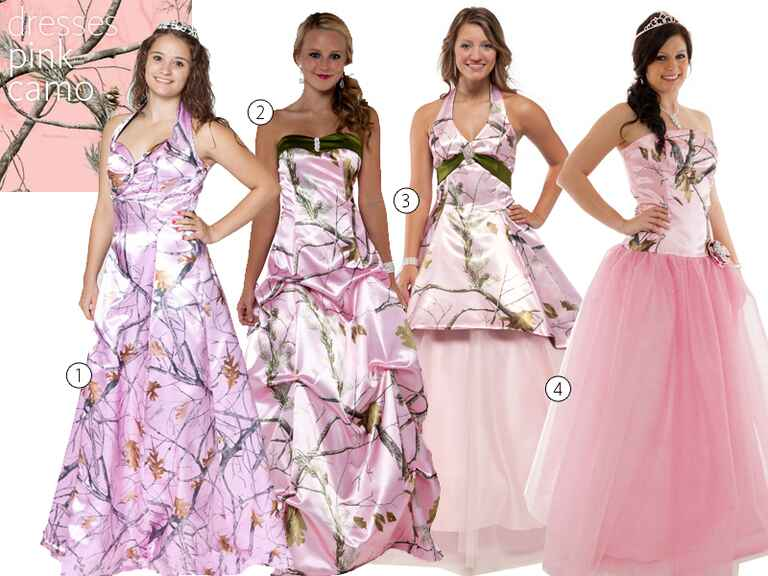 Camo wedding dresses camo bridesmaid dresses for Wedding dresses camouflage pink