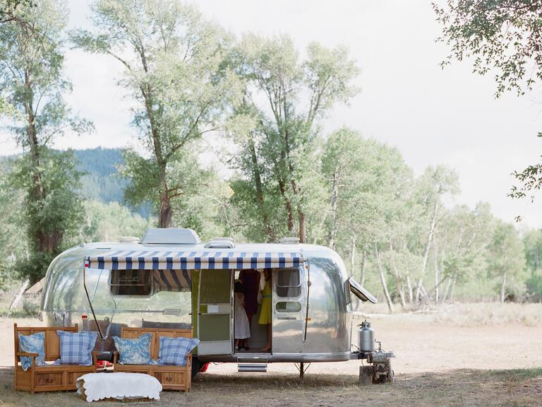 Airstream outdoor reception lounge