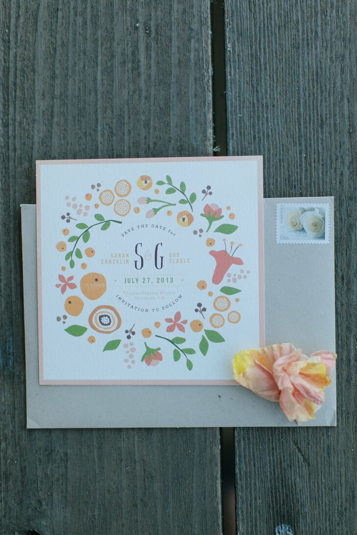 Whimsical Floral Save-the-Date
