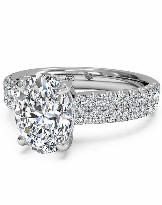 Ritani Oval Cut Double French-Set Band Engagement Ring in Platinum (0.59 CTW) Engagement Ring photo