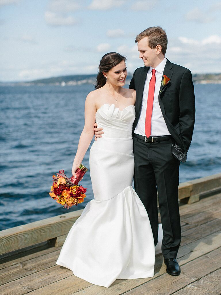15 simple but gorgeous wedding dresses simple wedding gown with a structed neckline ombrellifo Gallery